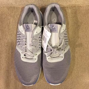 Men's Reebok gray and blue running shoes